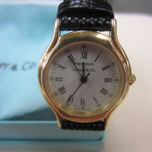 Tiffany & Co. Ladies Gold Tone Wrist Watch